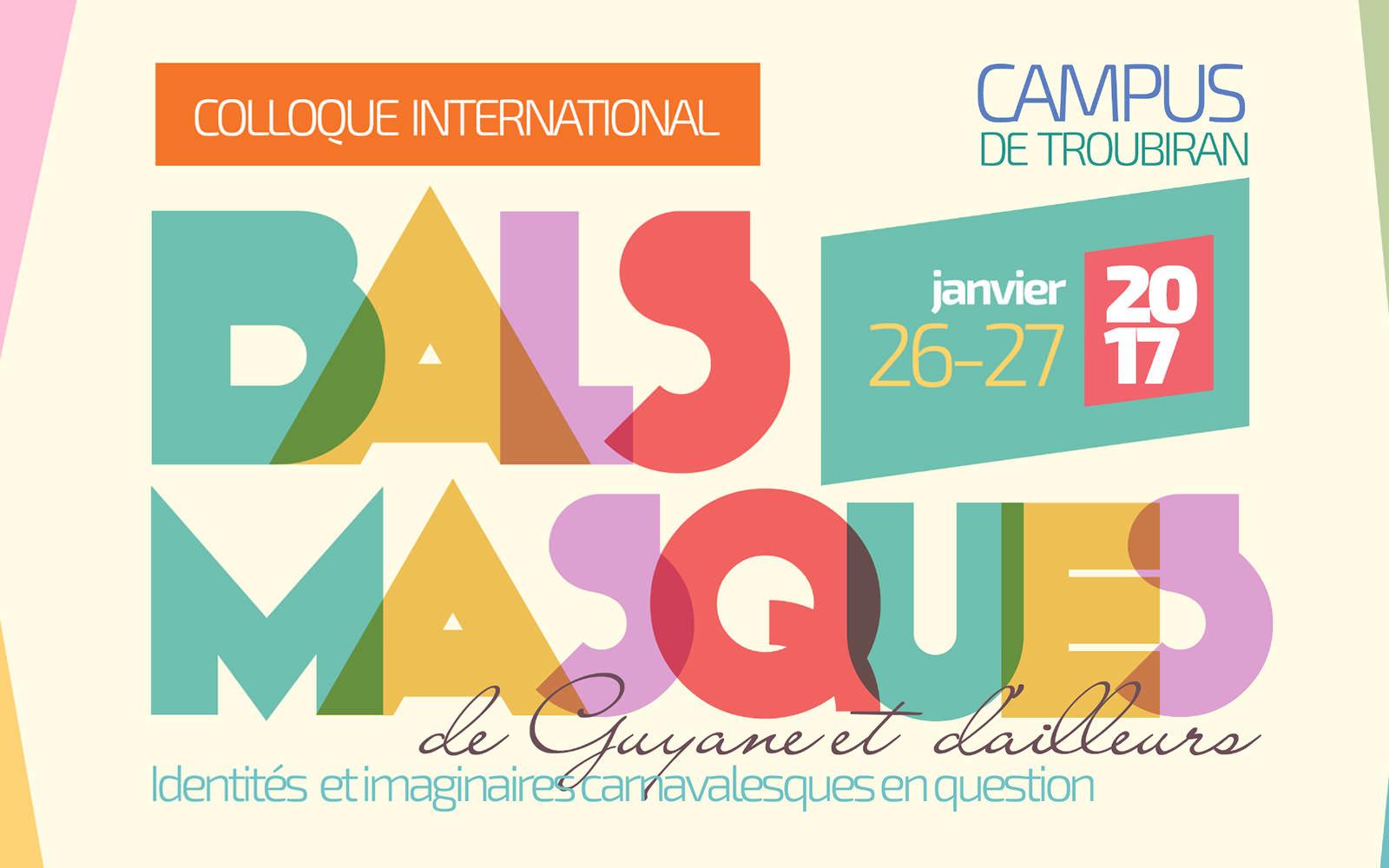 Colloque international: bals masqués de Guyane et d'ailleurs