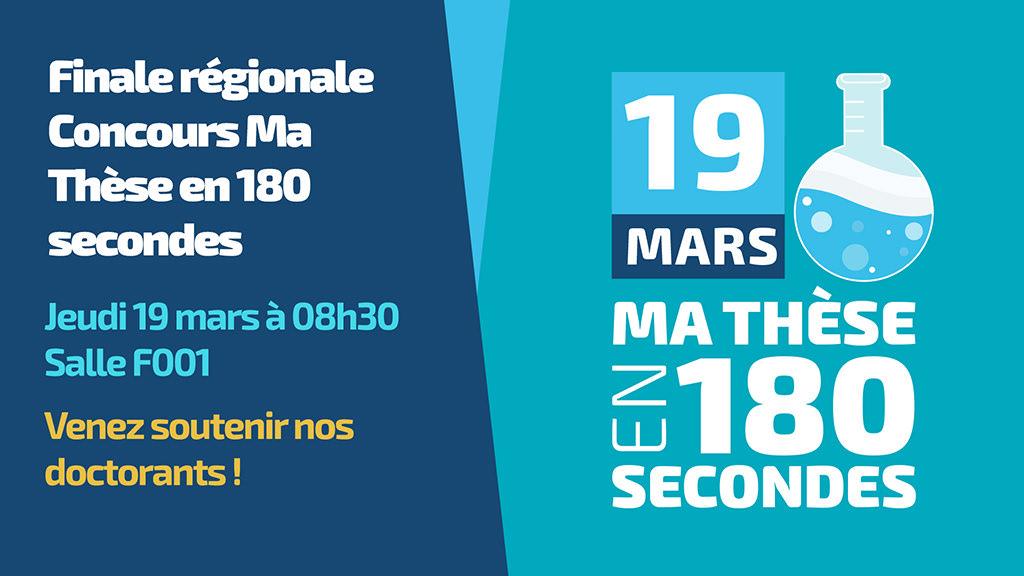 Finale régionale du concours Ma Thèse en 180 secondes